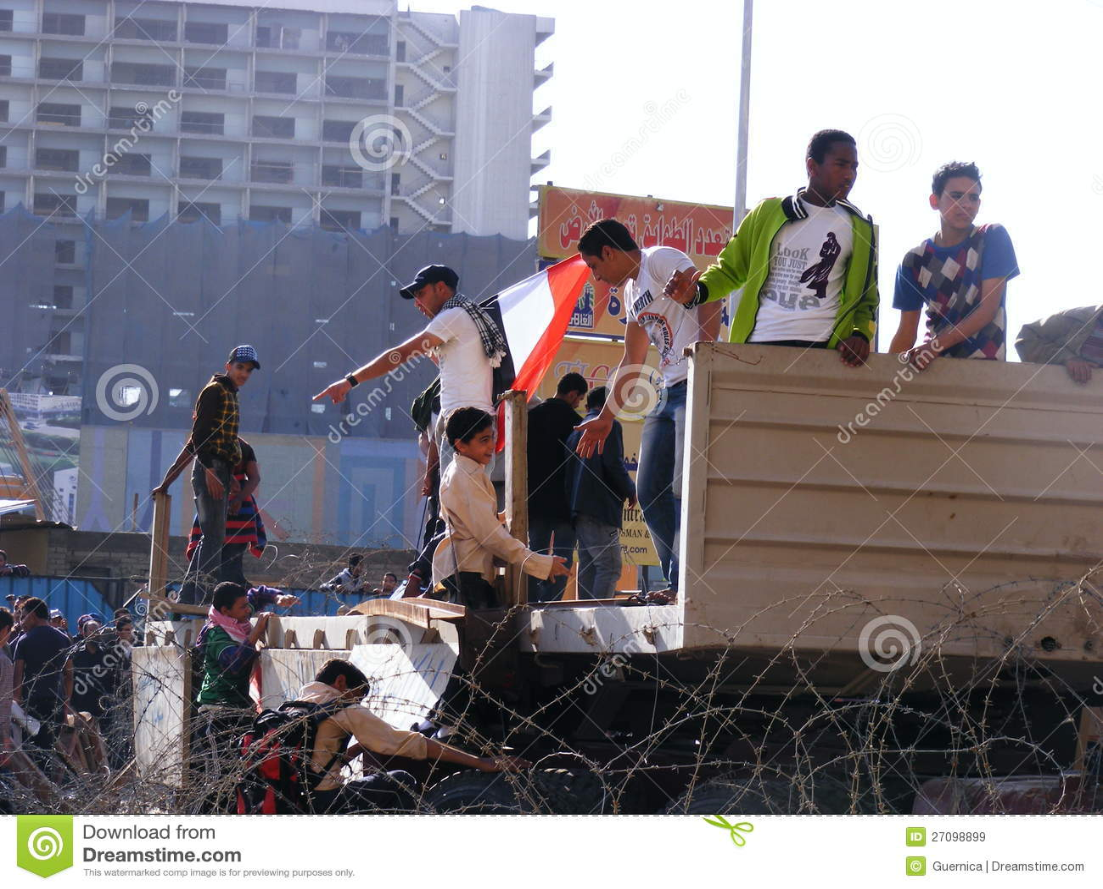 People gathering in Tahrir Square