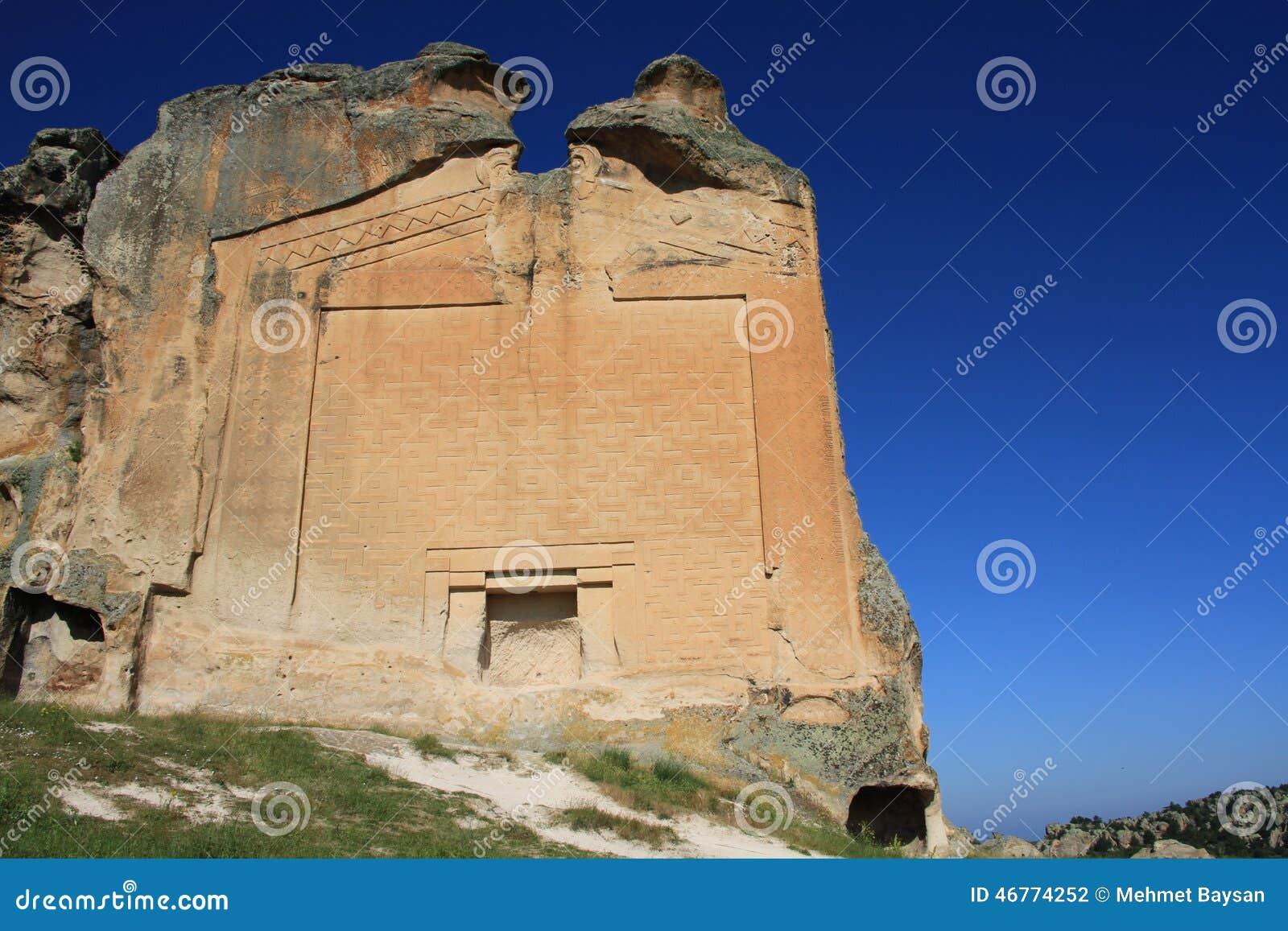 Midas Monument In Yazilikaya Stock Photo - Image: 46774252