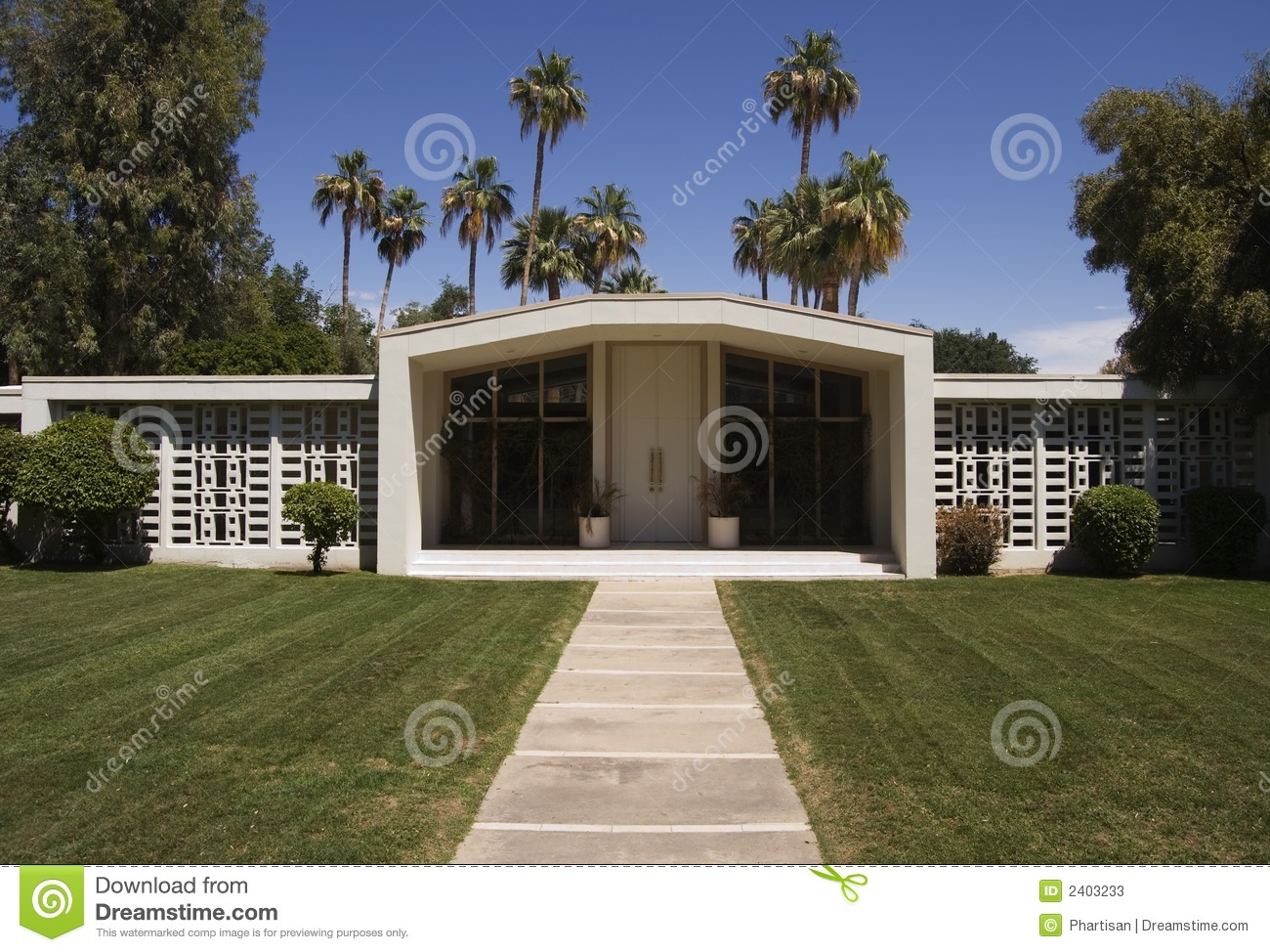 Midcentury Modern Architecture Stock Photos Image