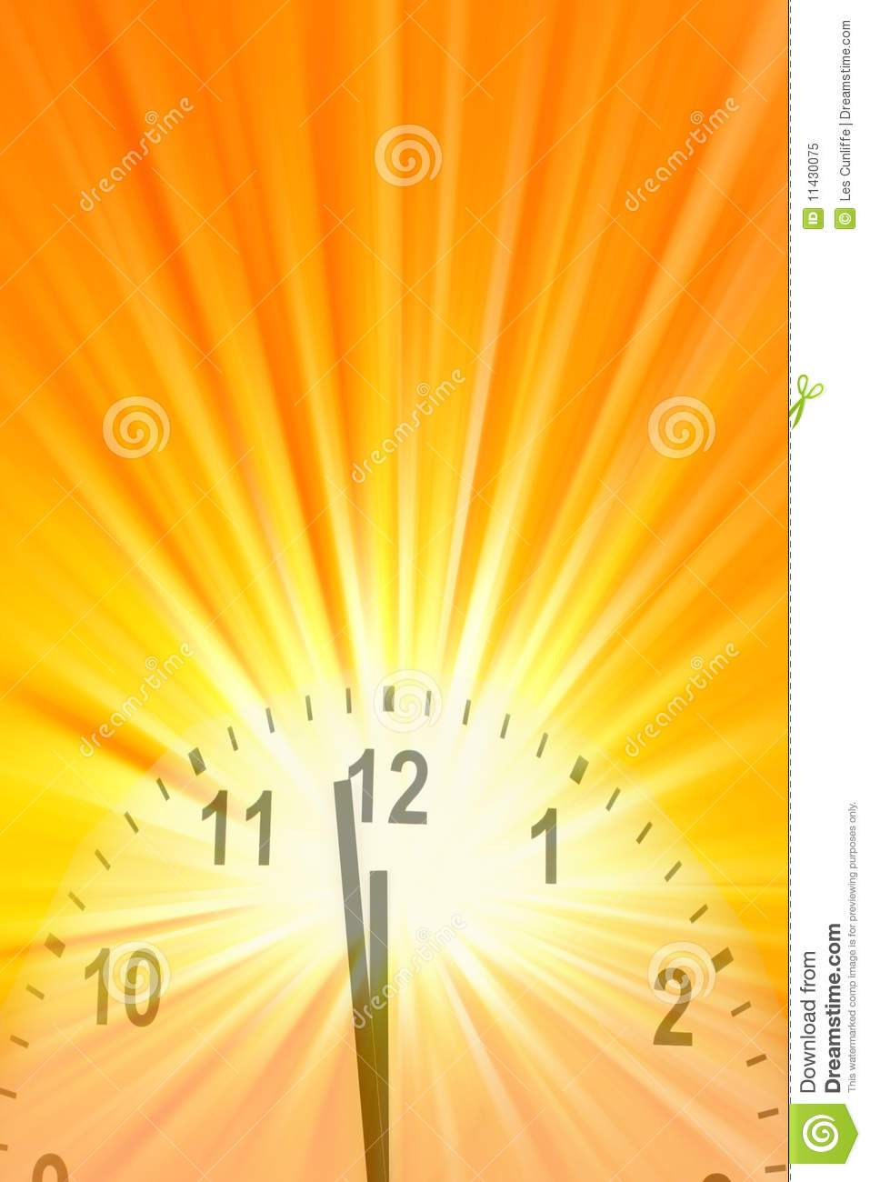 Midday clock stock image. Image of measurement, time ...
