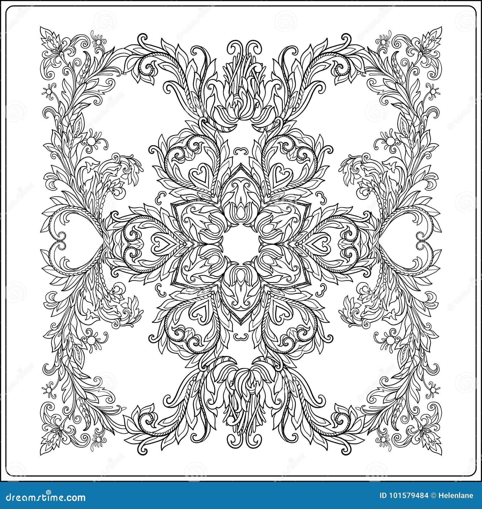 Middeleeuws bloemen koninklijk patroon Decoratieve symmetrie arabesque Co