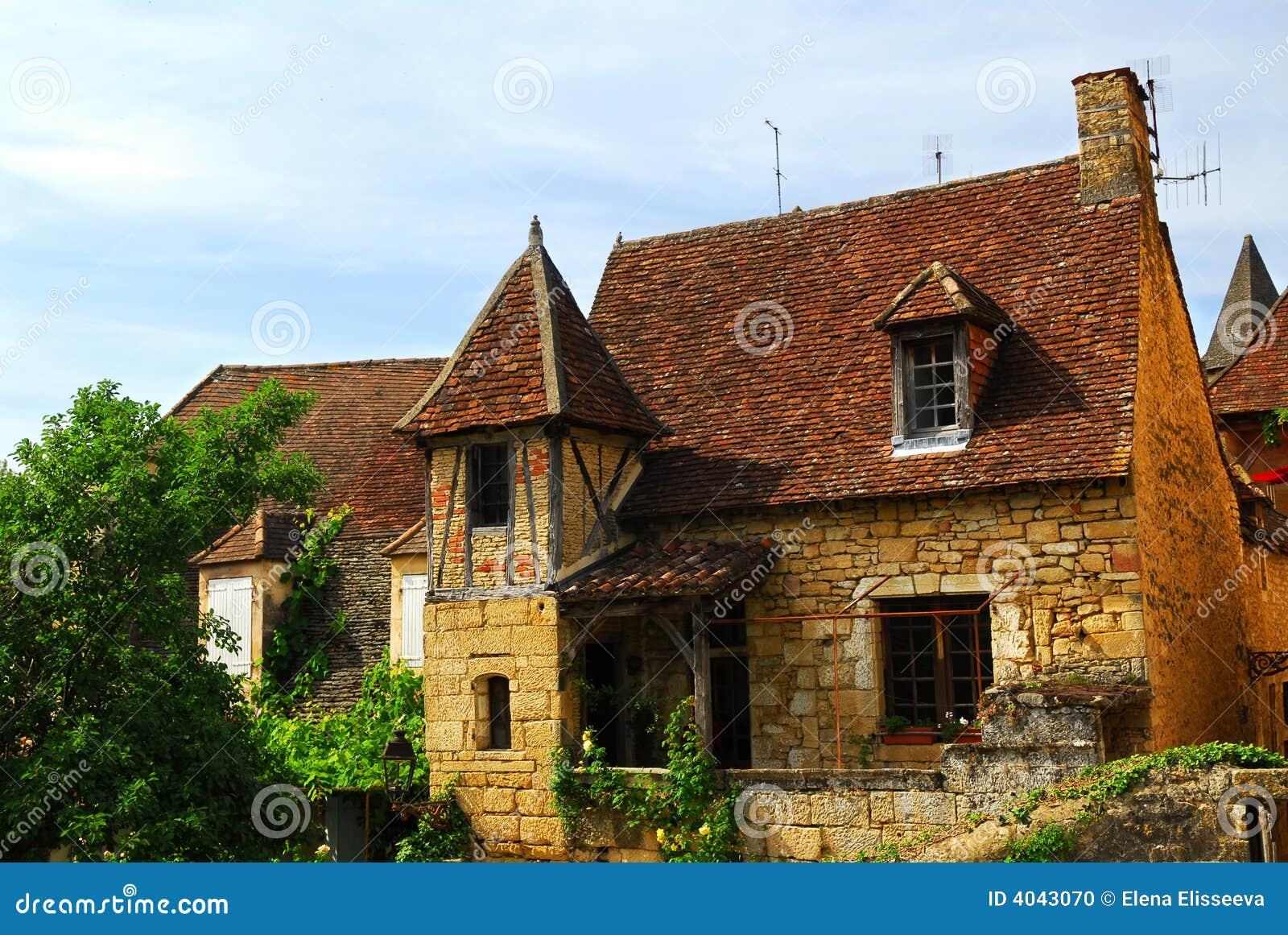 Middeleeuws huis in Sarlat, Frankrijk