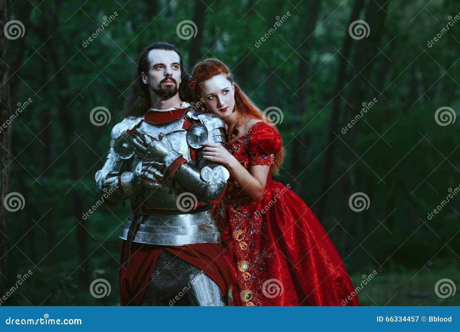 Middeleeuwse ridder met dame