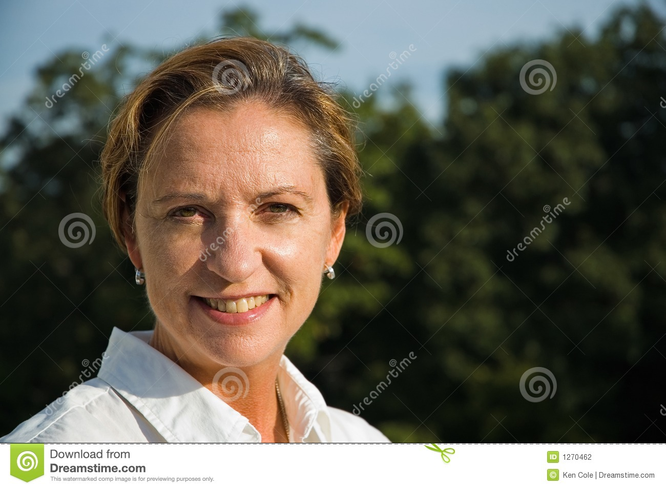Middle Age Woman Smiling