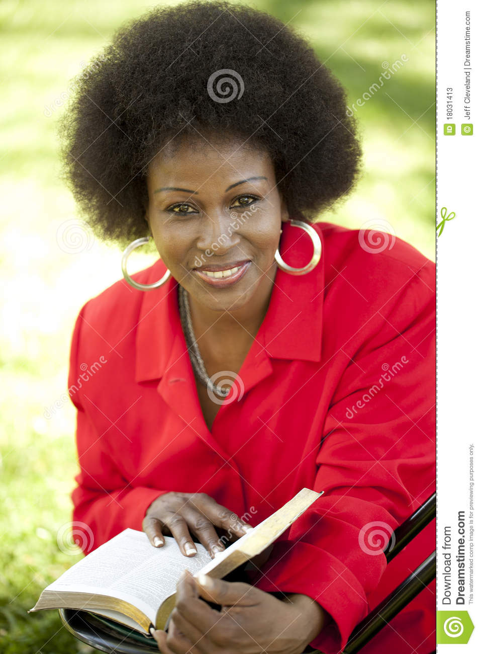 Middle-aged Black woman outdoor