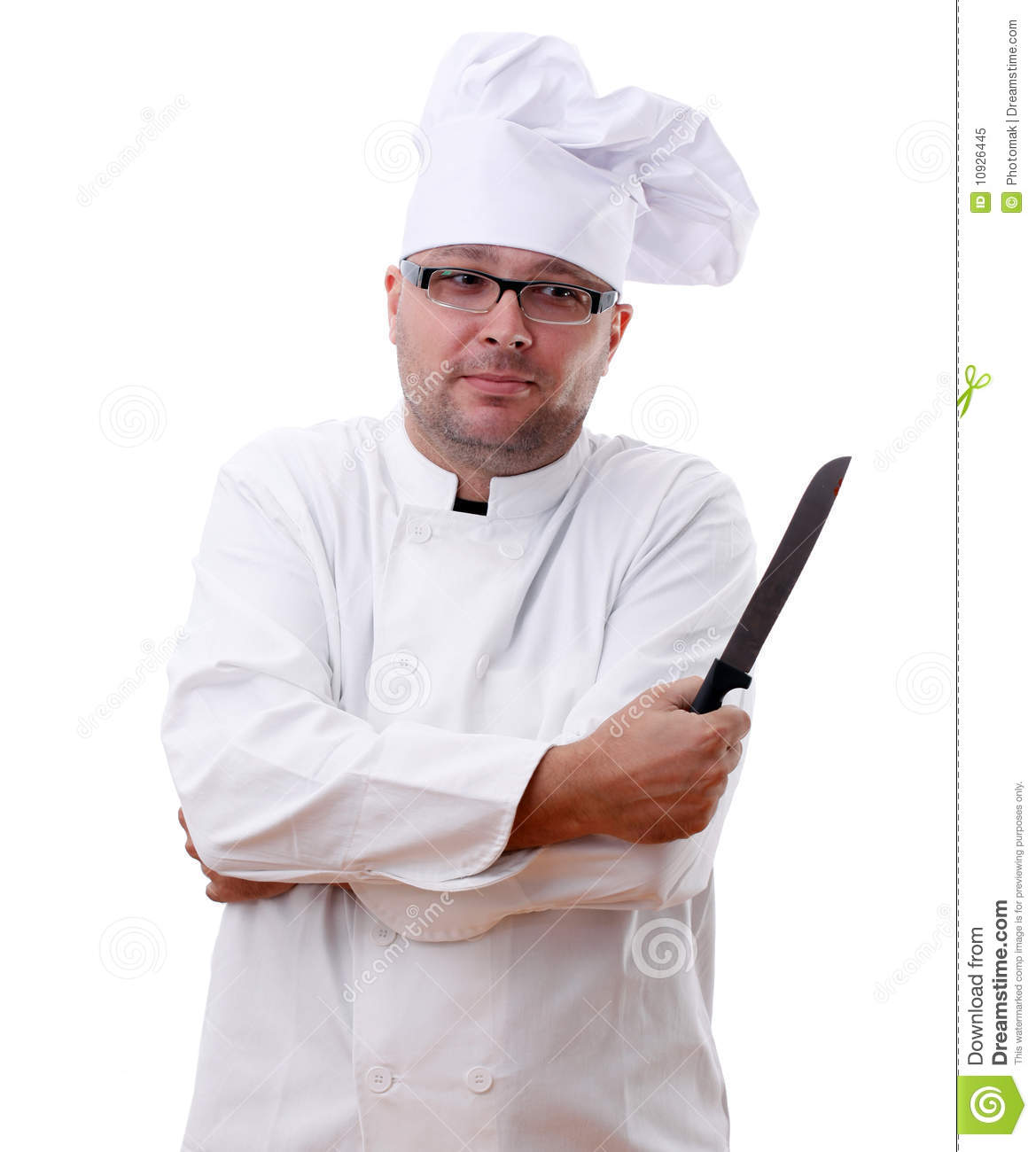 middle aged chef holding a kitchen knife royalty free stock photo image 10926445. Black Bedroom Furniture Sets. Home Design Ideas