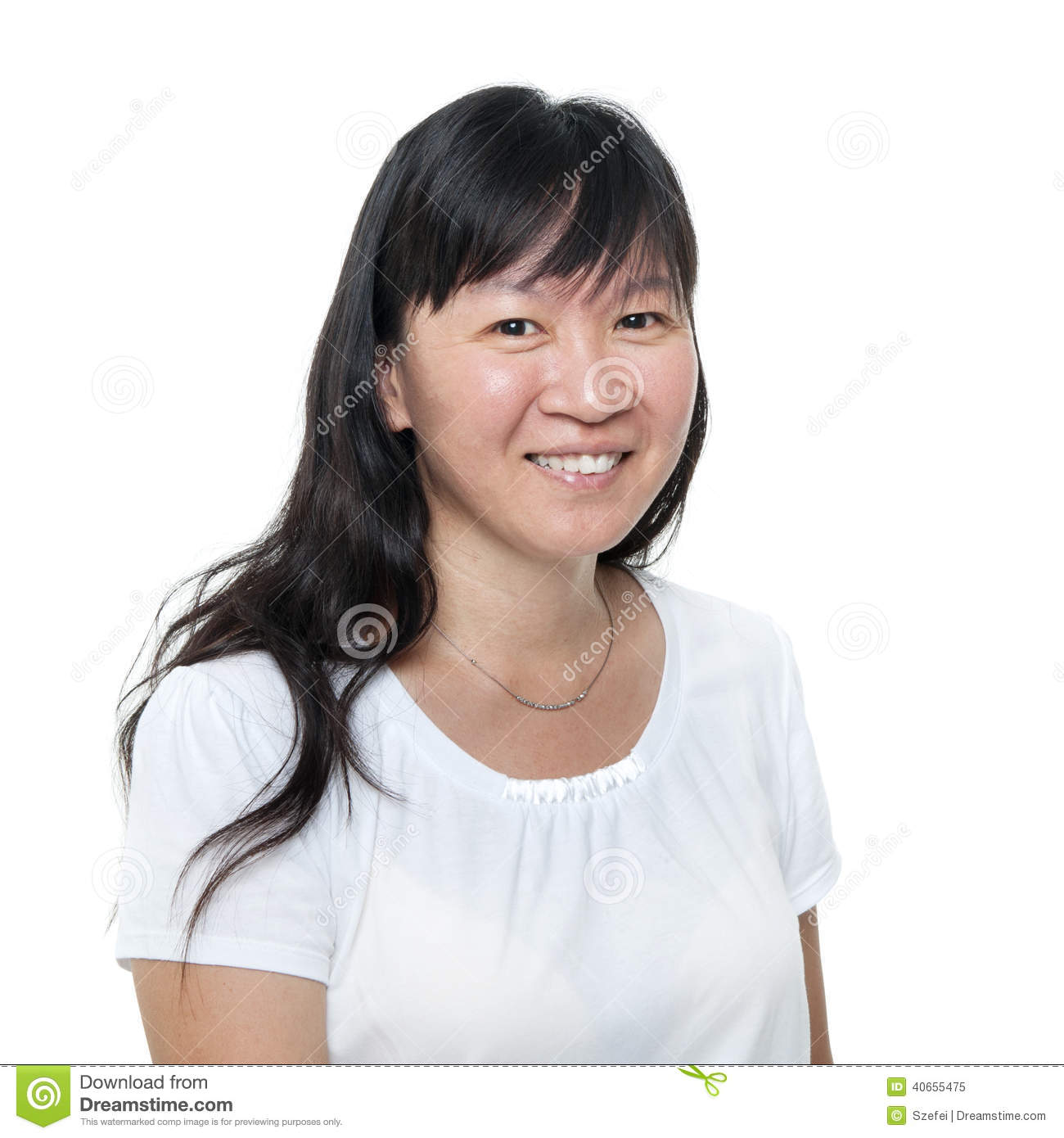 Middle Aged Asian Woman 85