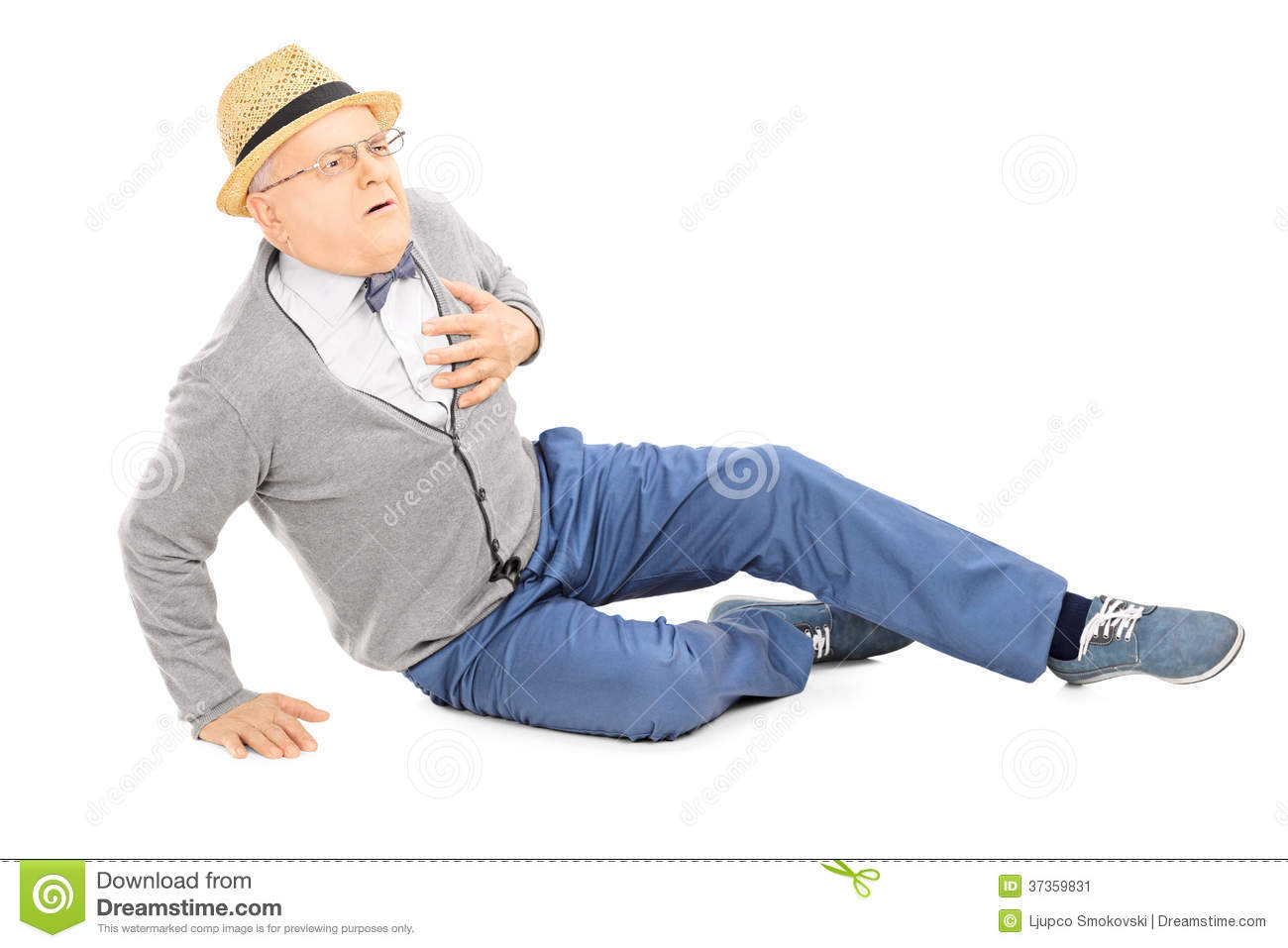 Cable Laying On Ground Art : Middle aged gentleman laying on the ground having a heart