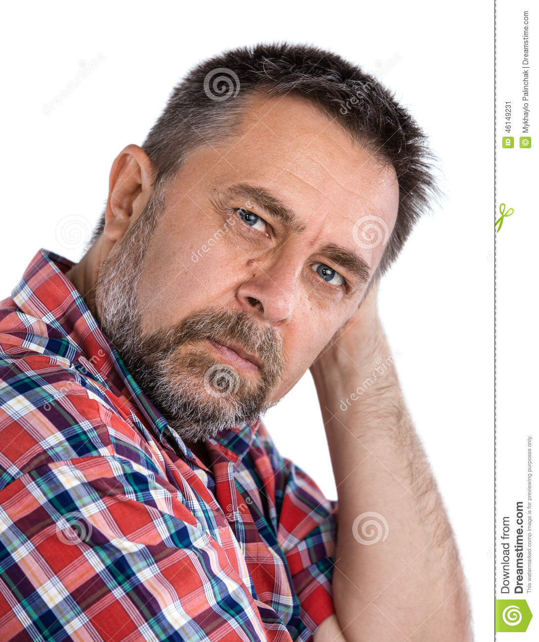 Middle Aged Man Stock Photo - Image: 46149231