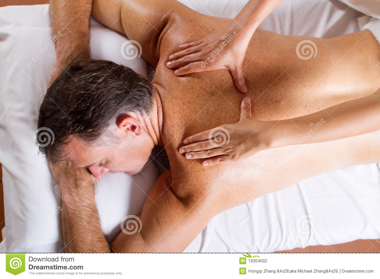 Middle aged man massage