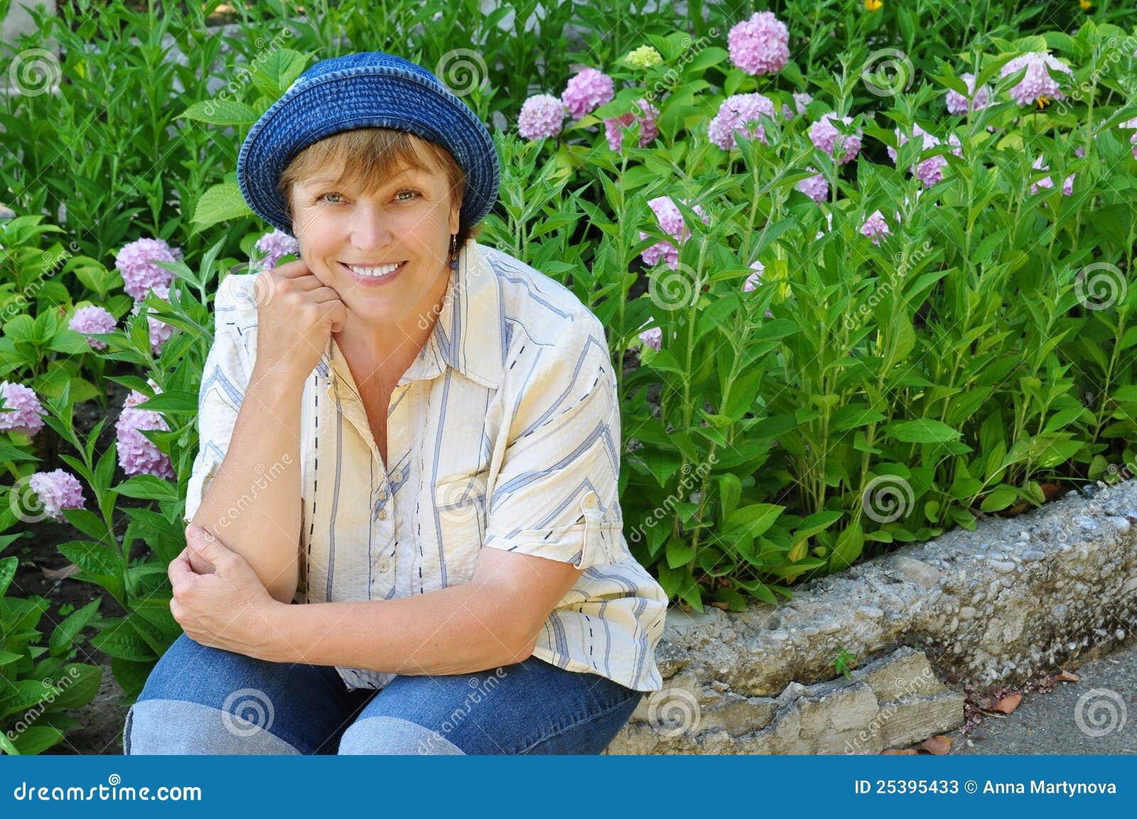 Middle Aged Woman Gardening Stock Image Image 25395433