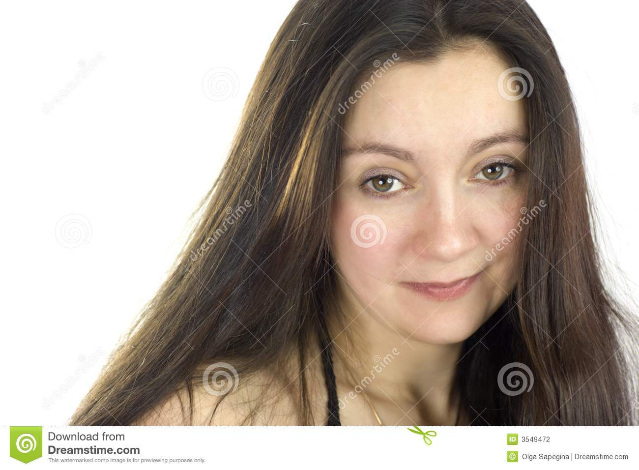 Middle Aged Woman Long Hair Stock Photography Image 3549472