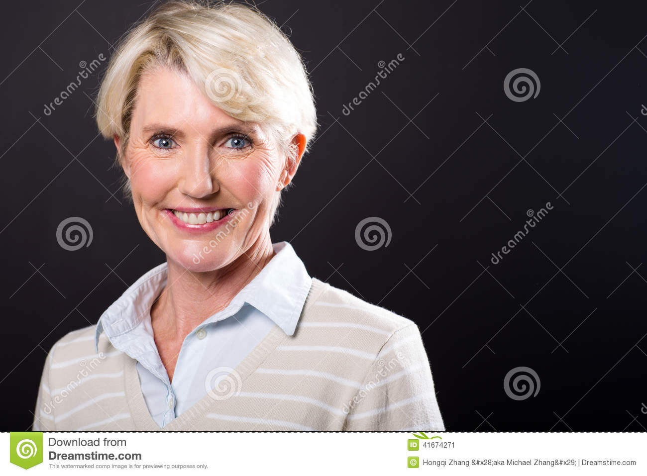 middle aged woman portrait stock photo image 41674271
