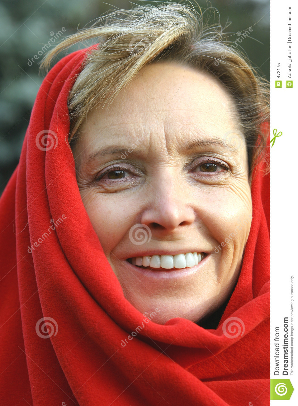 Download Middle aged woman smiling. stock image. Image of cover - 472175