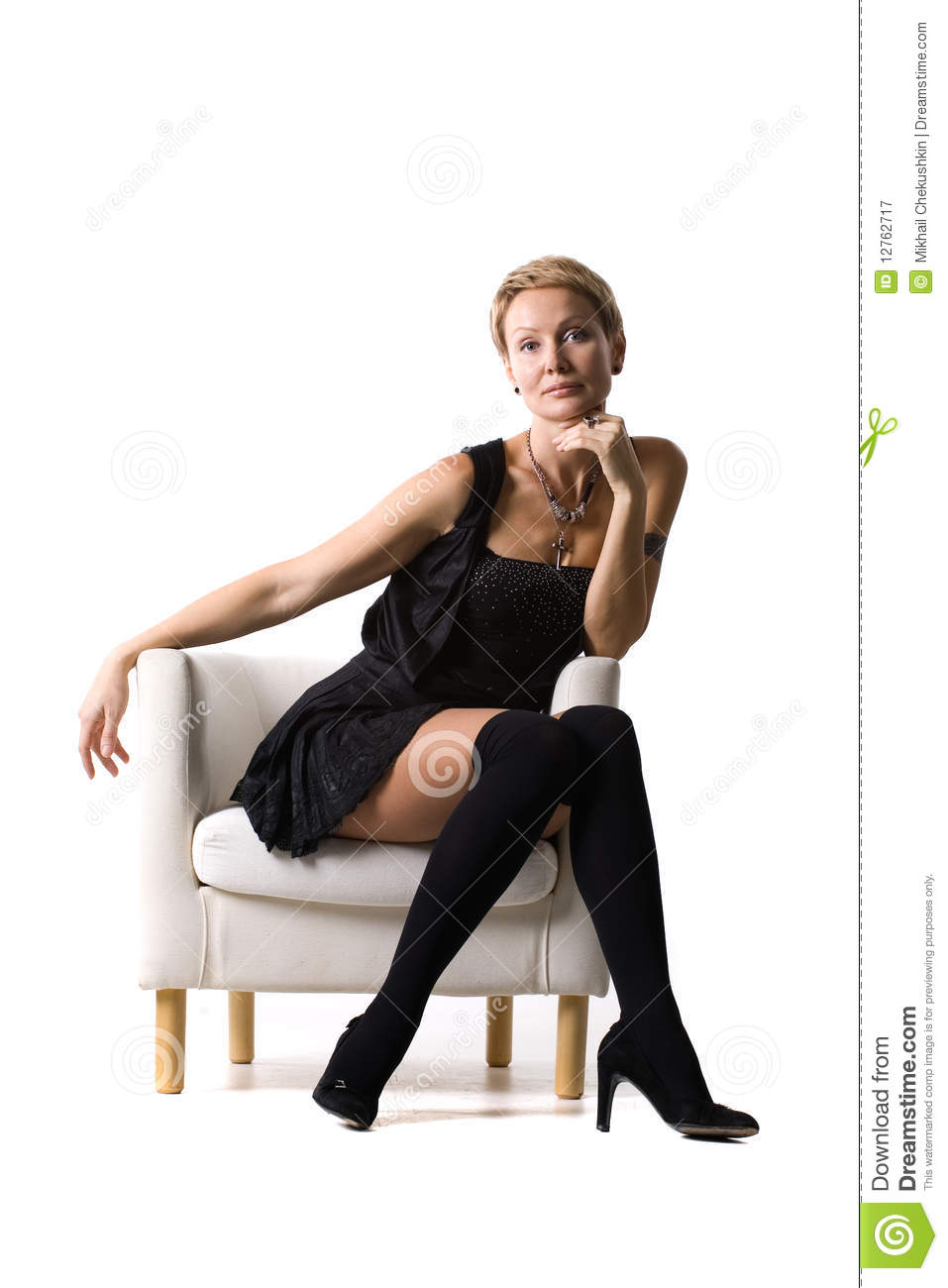 Middle age pantyhose models