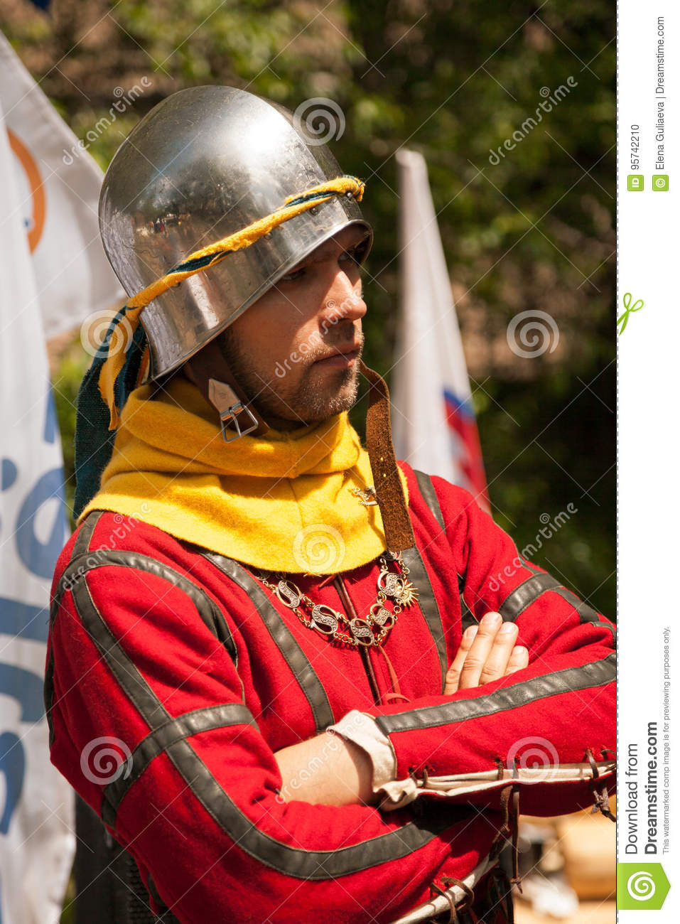 Middle Ages Period Costume At Knight Tournament Editorial