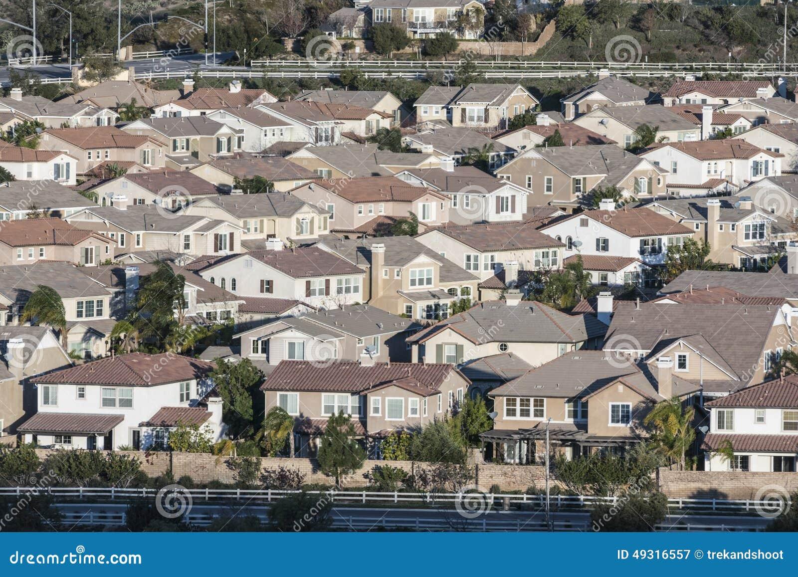 middle class california suburbia stock photo image 49316557