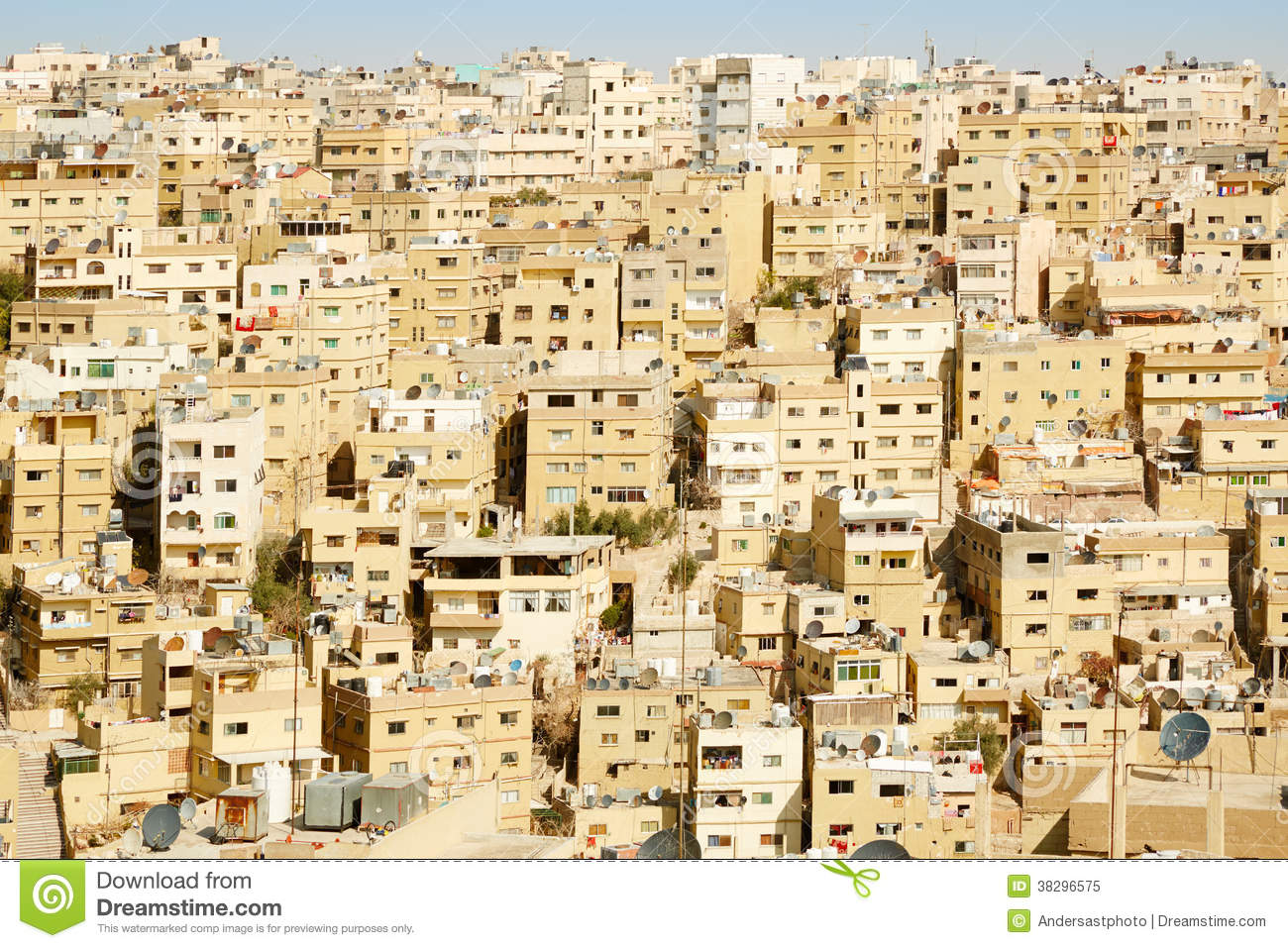 Middle east buildings and houses in amman royalty free for A to z salon amman