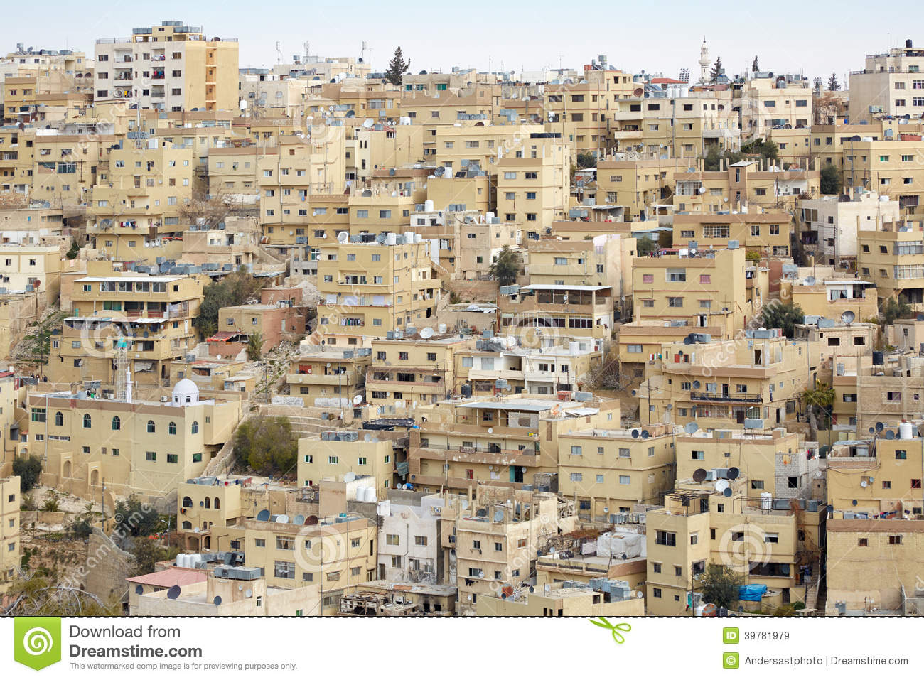 Middle east buildings and houses in amman stock photo for A to z salon amman