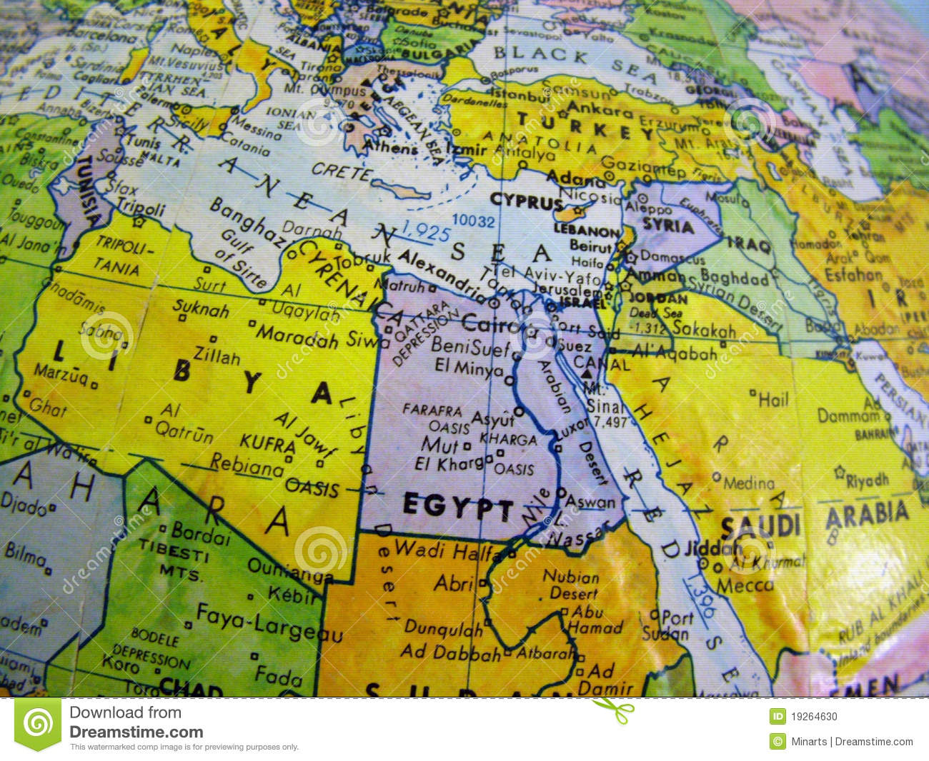 Middle East Countries In The Globe Earth Stock Photo   Image of