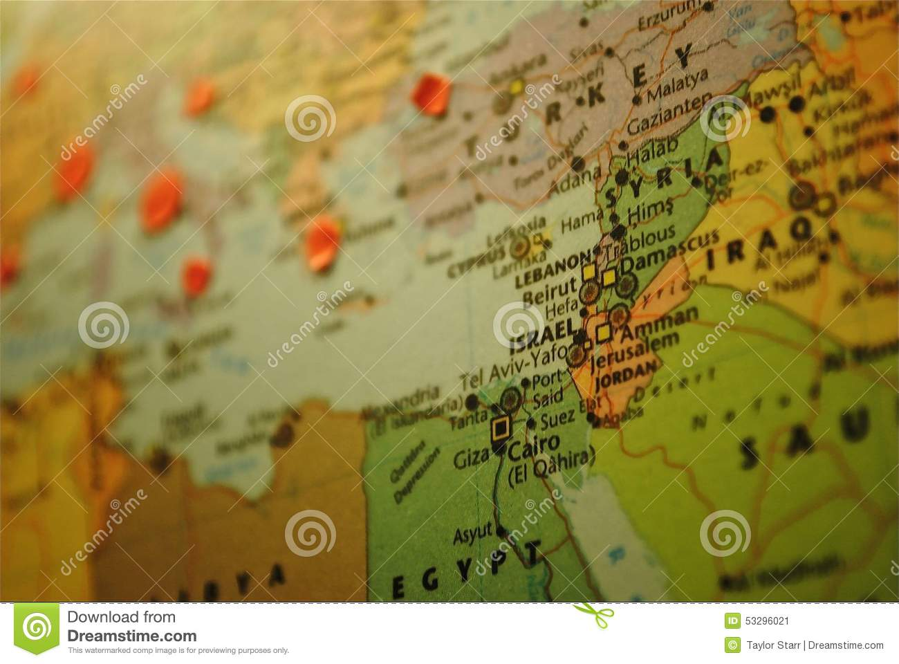 Middle-East Map: Israel stock image. Image of middle - 53296021