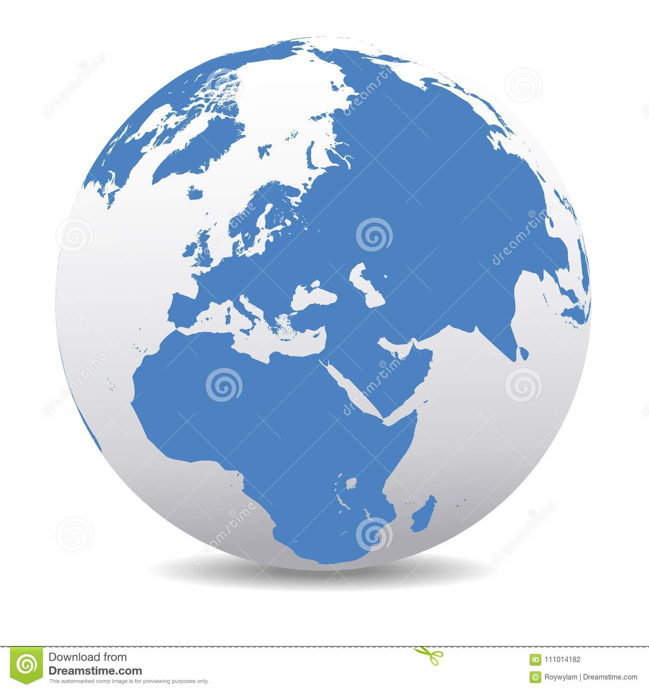Picture of: Middle East Russia Europe And Africa Global World Stock Vector Illustration Of Kenya East 111014182