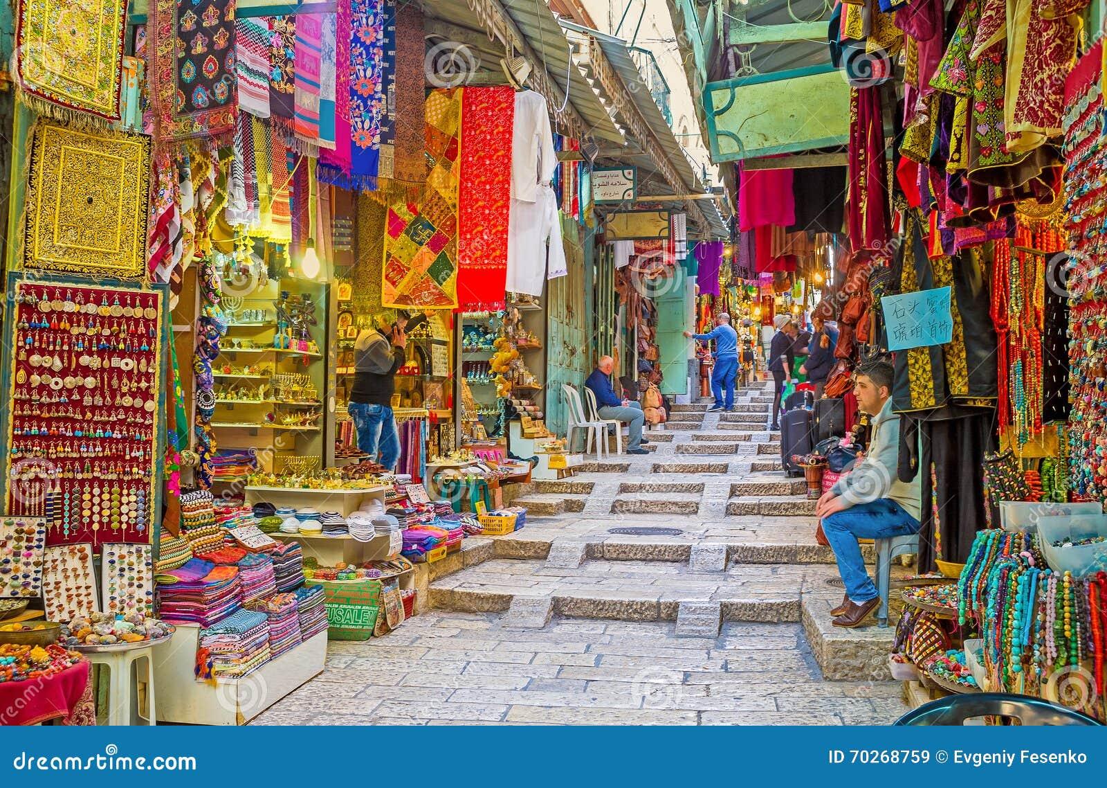 The Middle Eastern Bazaar editorial stock image  Image of jerusalem