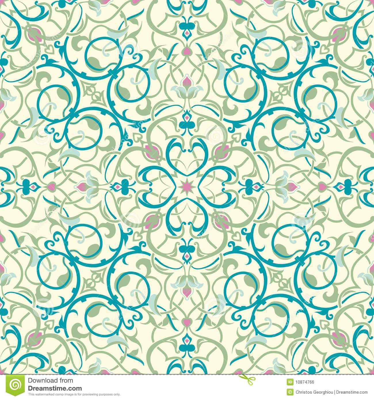 Middle Eastern Inspired Seamless Tile Design Stock Vector ...