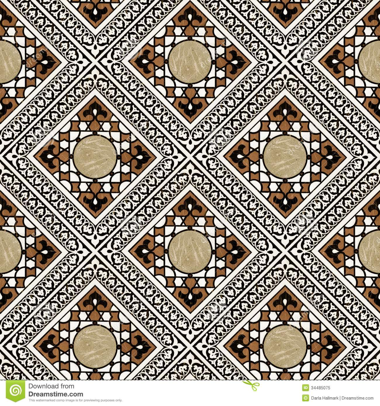 Persian Patterns: Middle Eastern Tile Pattern Stock Illustration