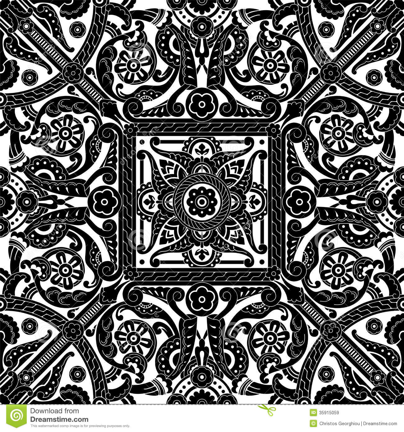 Middle Eastern Vintage Pattern Royalty Free Stock Images   Image
