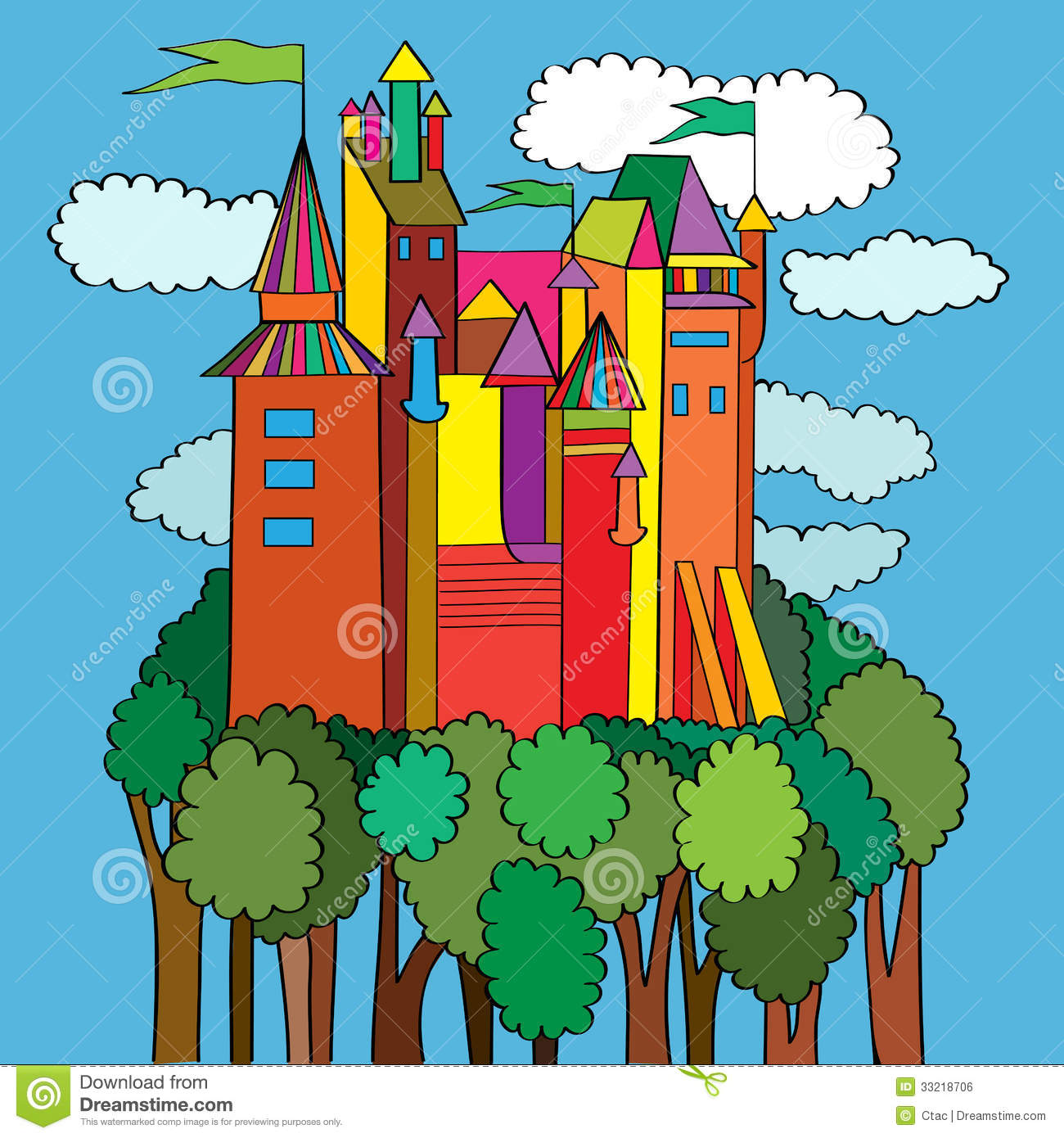 Middle Age Castle Royalty Free Stock Image - Image: 33218706