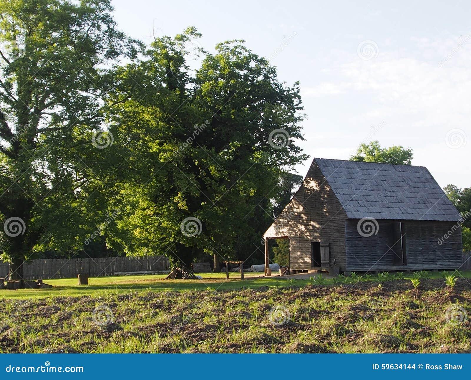 The tobacco barn sits ...