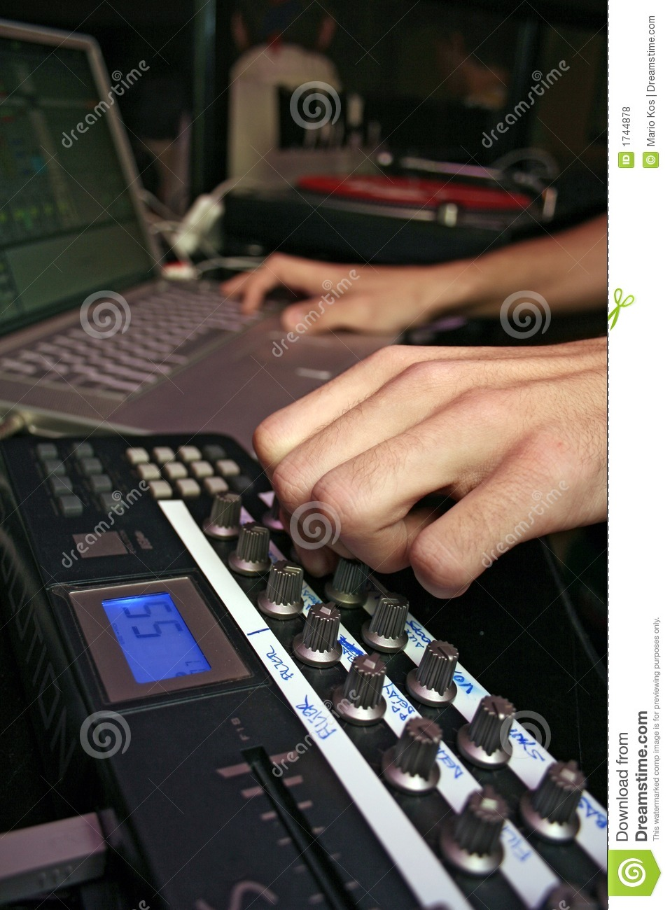 Midi Controller - DJ 9 stock photo  Image of spin, live