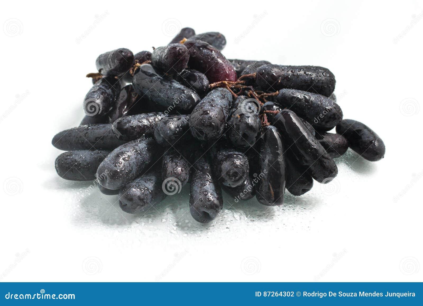 Midnatta långa svarta druvor