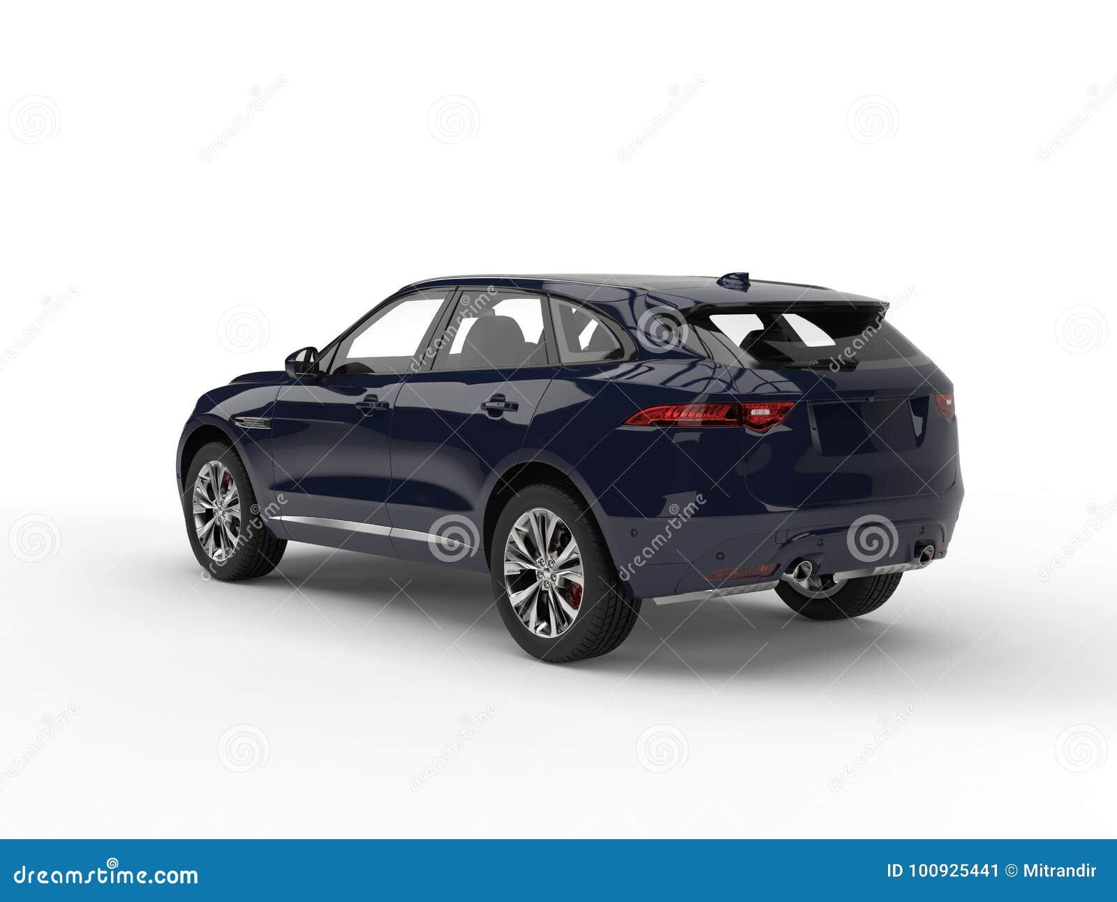 Midnight Blue Modern Suv Tail View Stock Illustration Illustration Of Automobile Auto 100925441