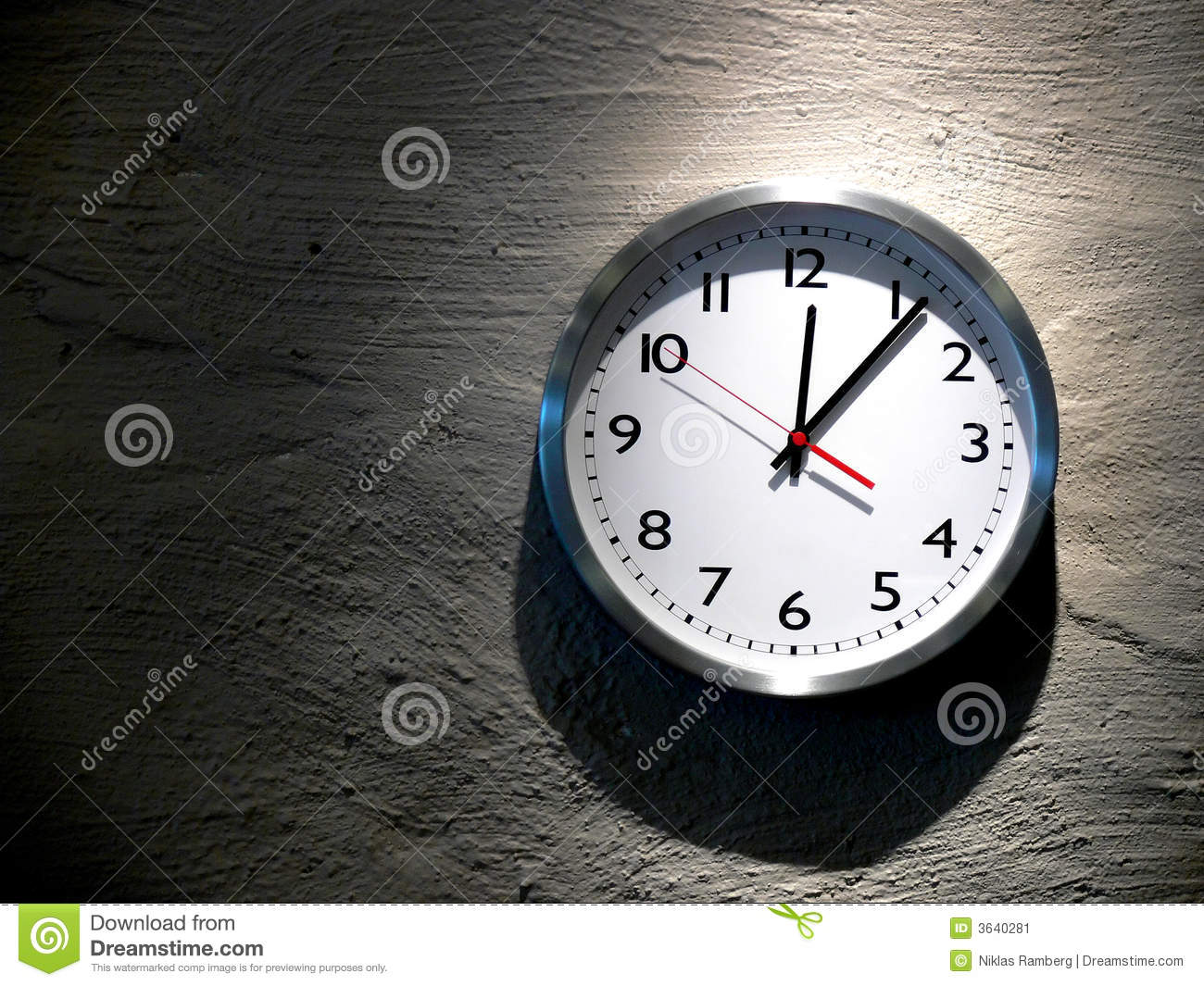 Midnight Clock Stock Image Image 3640281