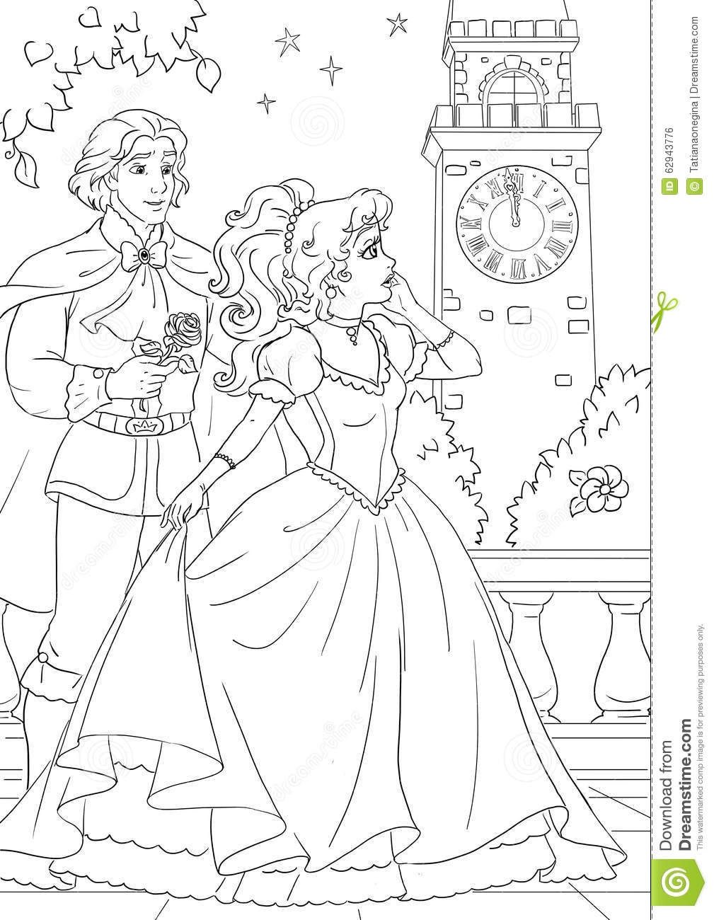 100 Coloring Pages Cinderella And Prince Film