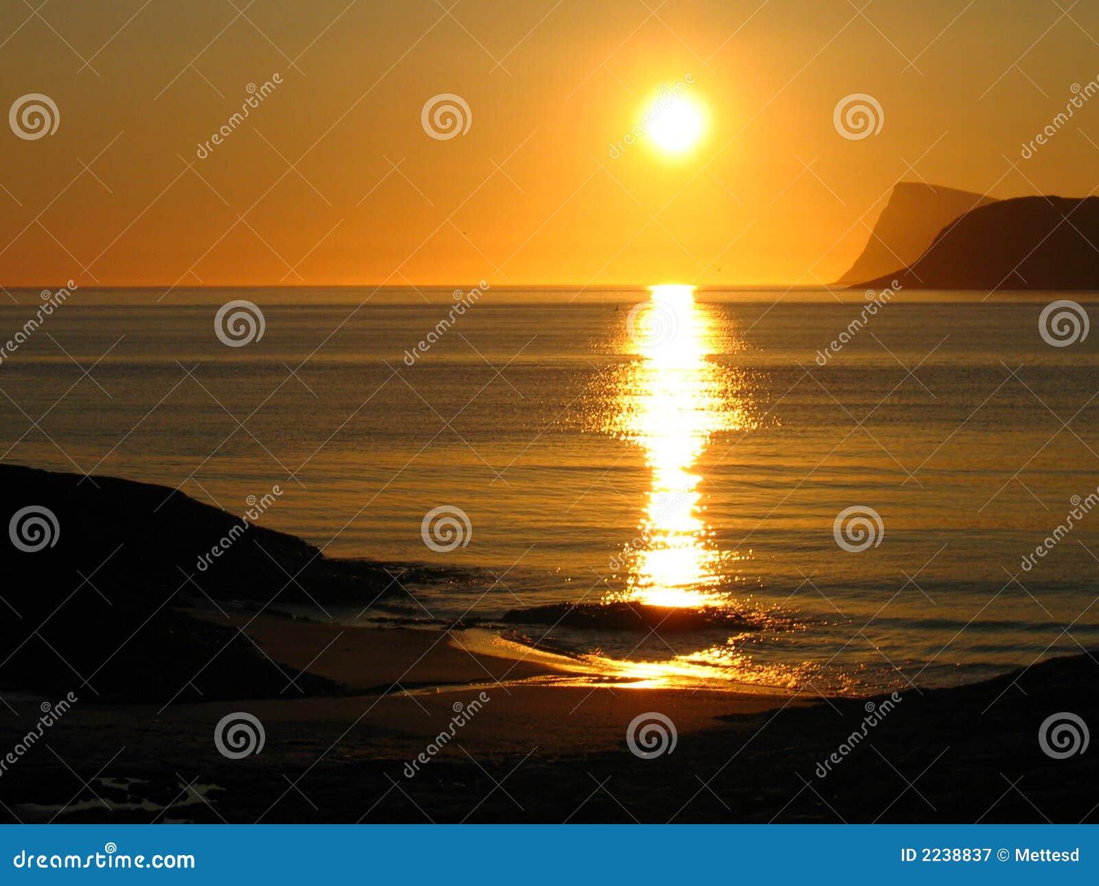 Midnight norway sun