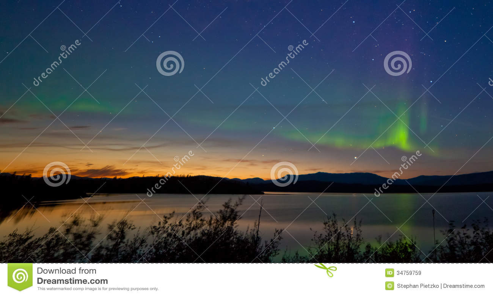 Midnight Summer Aurora Borealis Northern Lights Royalty