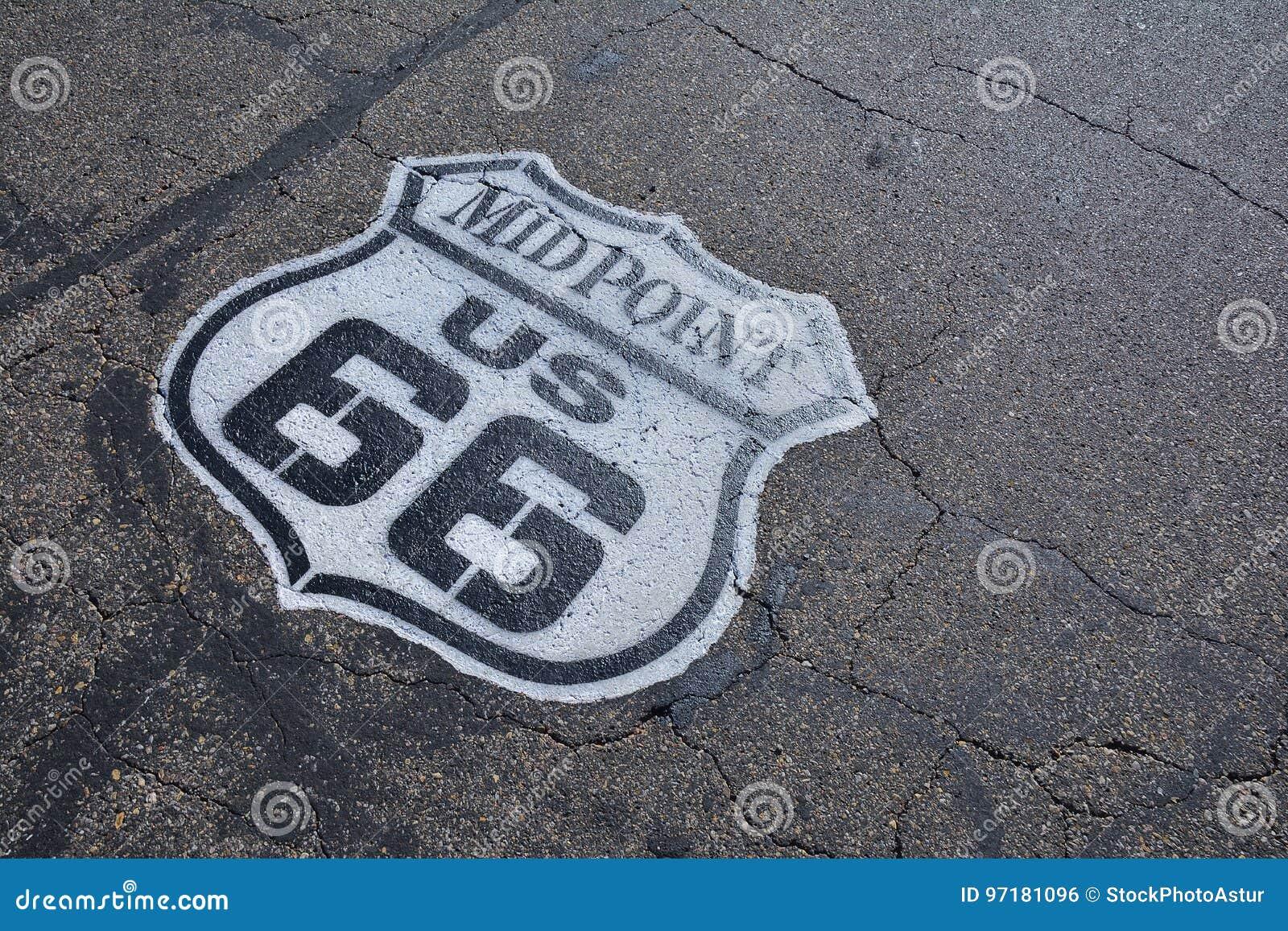 Midpoint w historycznej trasie 66