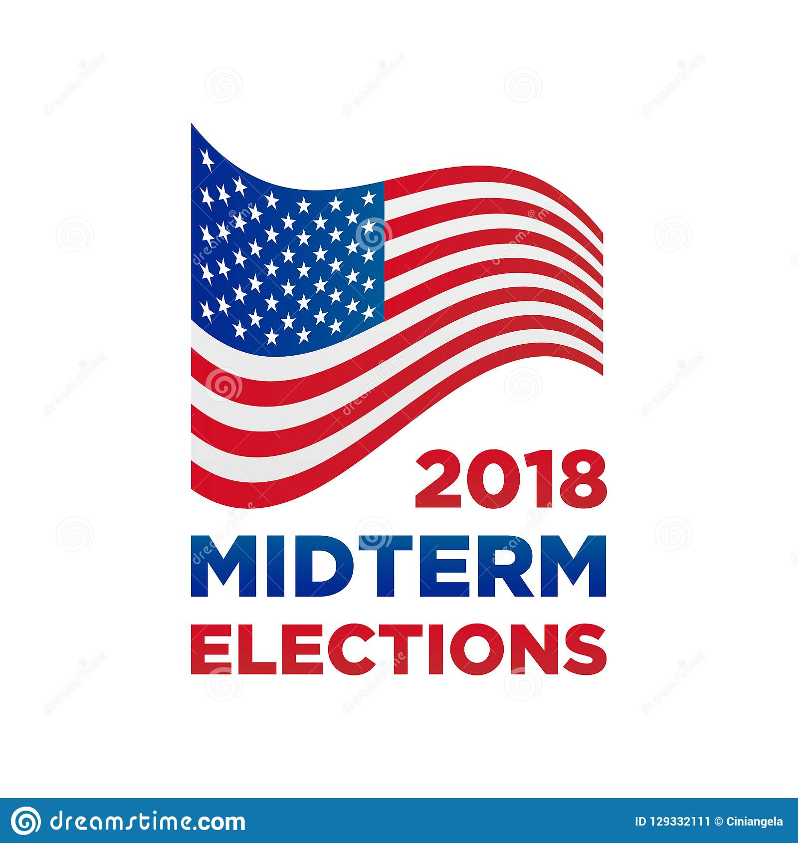 2018 midterm congressional elections vector