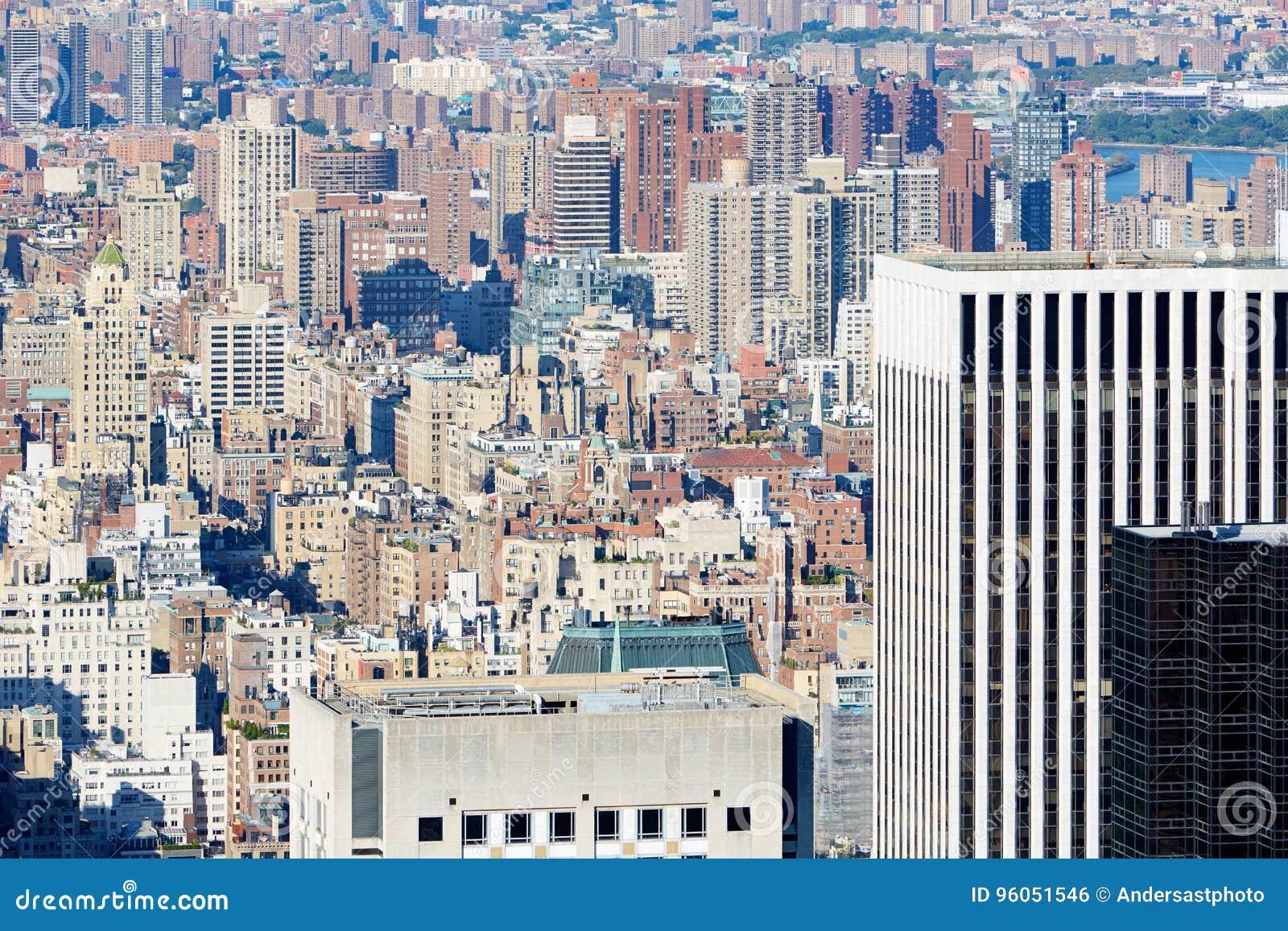 Midtown de New York City et vue aérienne d horizon de la ville haute avec des gratte-ciel