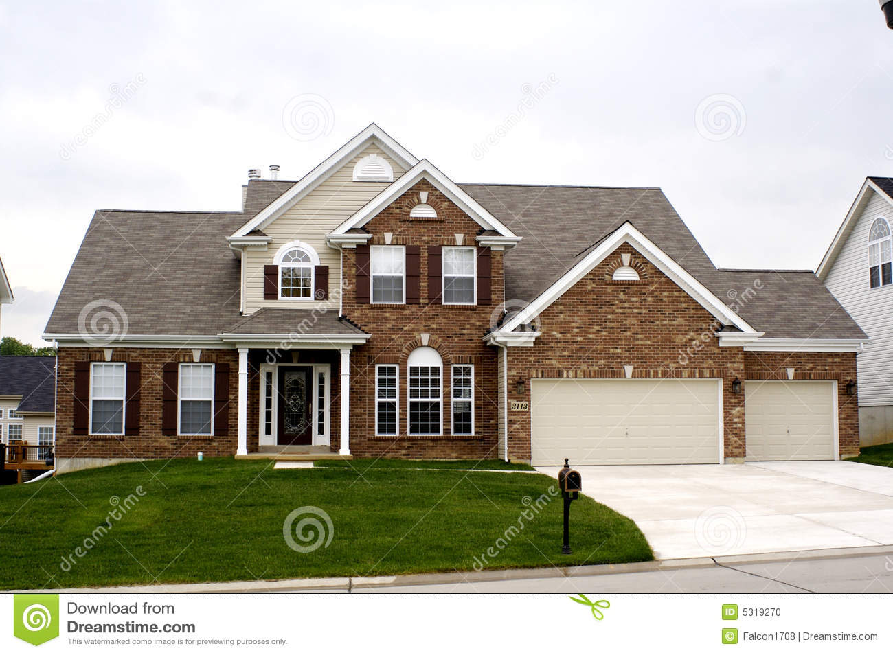Midwest house stock photo image 5319270 for Midwest home designs