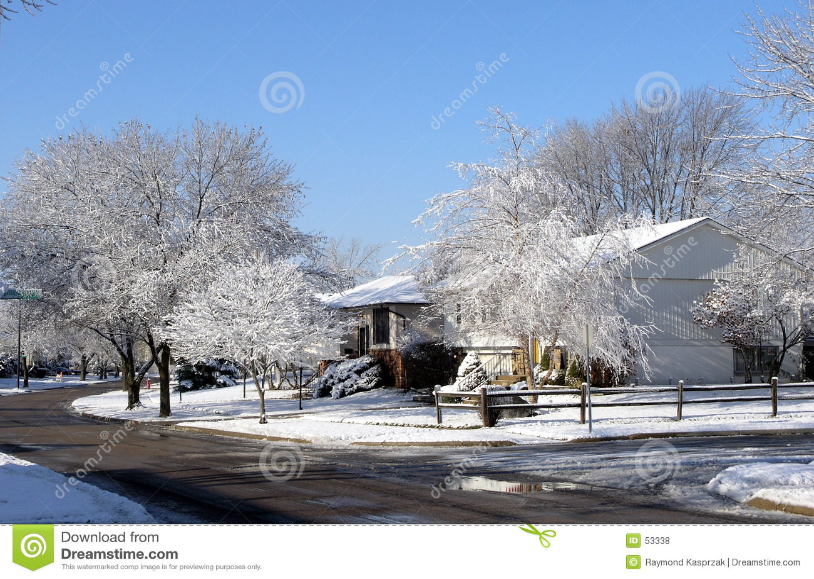 Download Midwest scene winter στοκ εικόνες. εικόνα από οδός, σπίτι - 53338