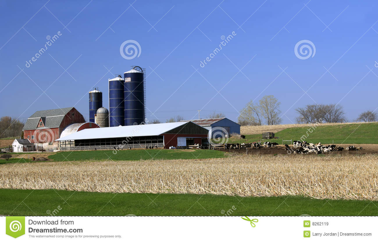 Midwest Usa Dairy Farm Royalty Free Stock Images Image