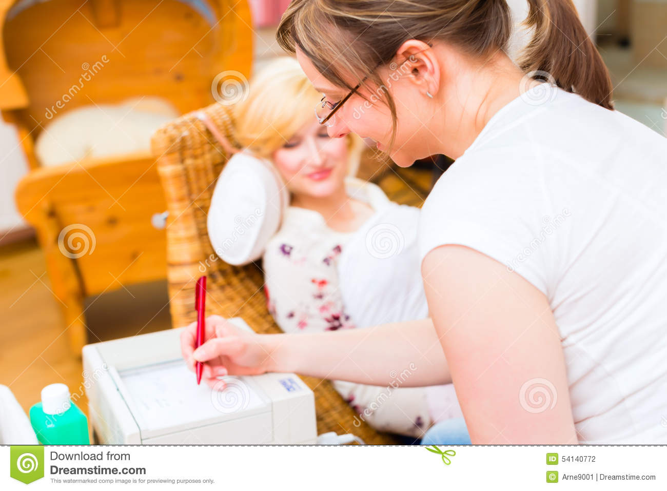 When do examinations expectant mother