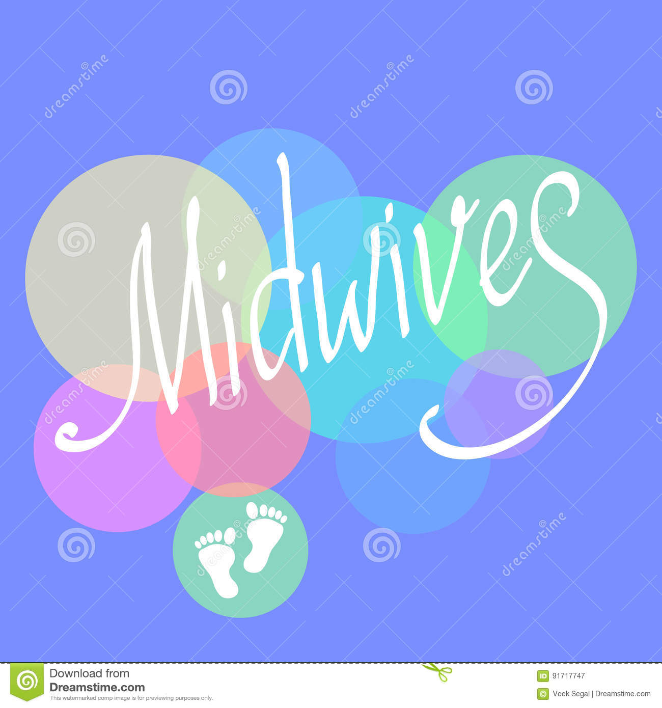 Midwives Day 5 May Vector Illustration For International Midwives