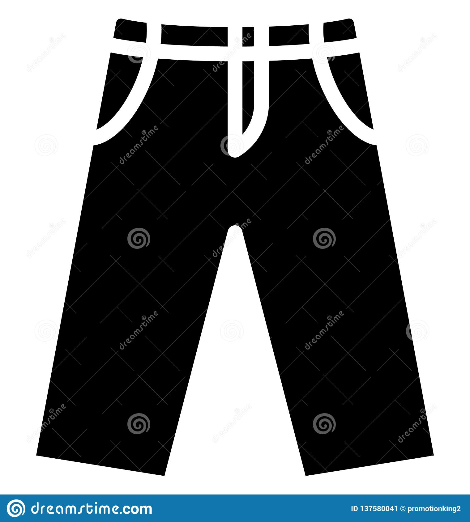 Miechowaty trouser Odizolowywał Wektorową ikonę która może łatwo redagować lub modyfikująca