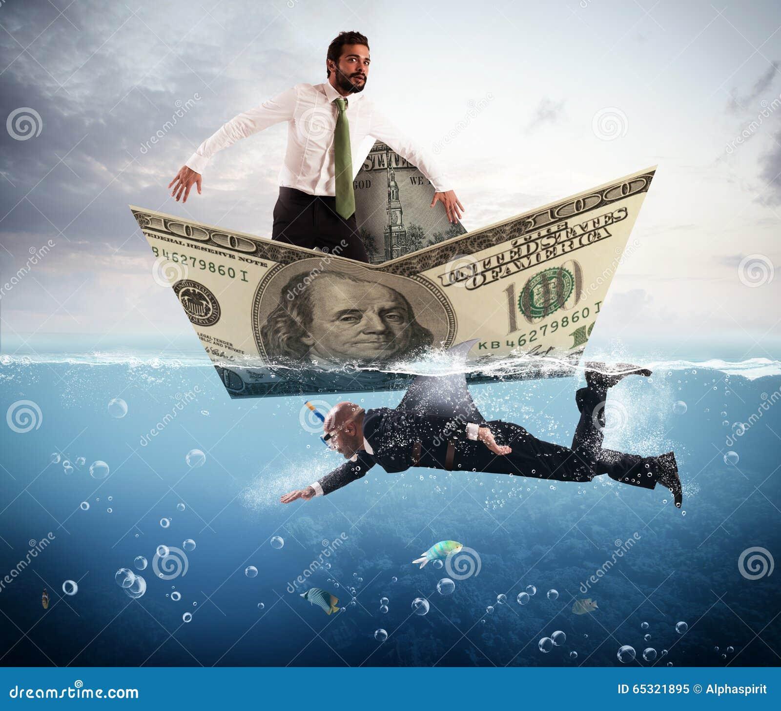 Miedo de los tiburones del negocio