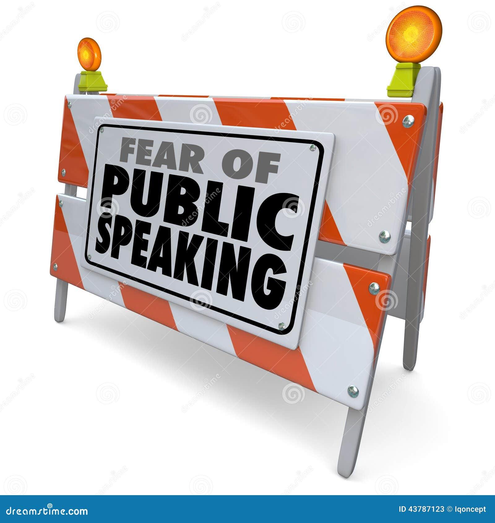 Miedo del evento de discurso de la barrera de la barricada de las palabras de discurso público